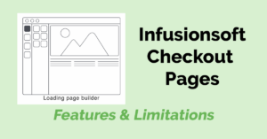Infusionsoft Checkout Pages
